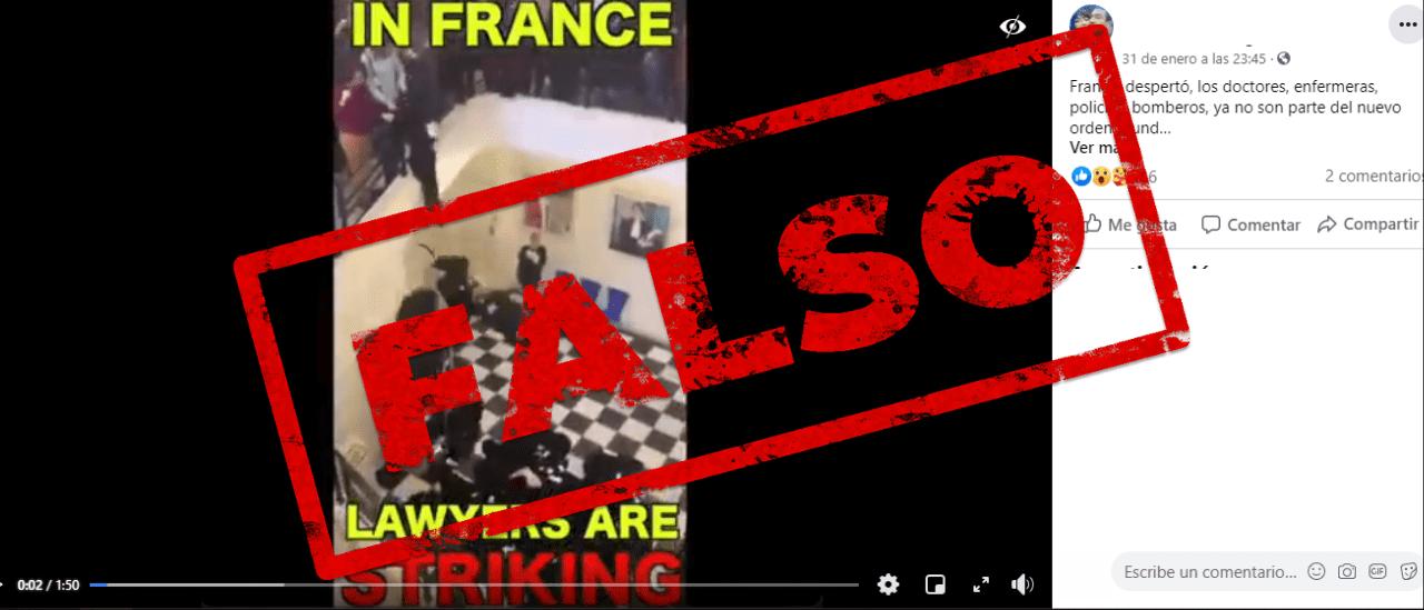 """Es falso que en este video """"doctores, enfermeras, policías y bomberos"""" festejan que ya no son parte """"del orden mundial"""" y la """"plandemia"""""""