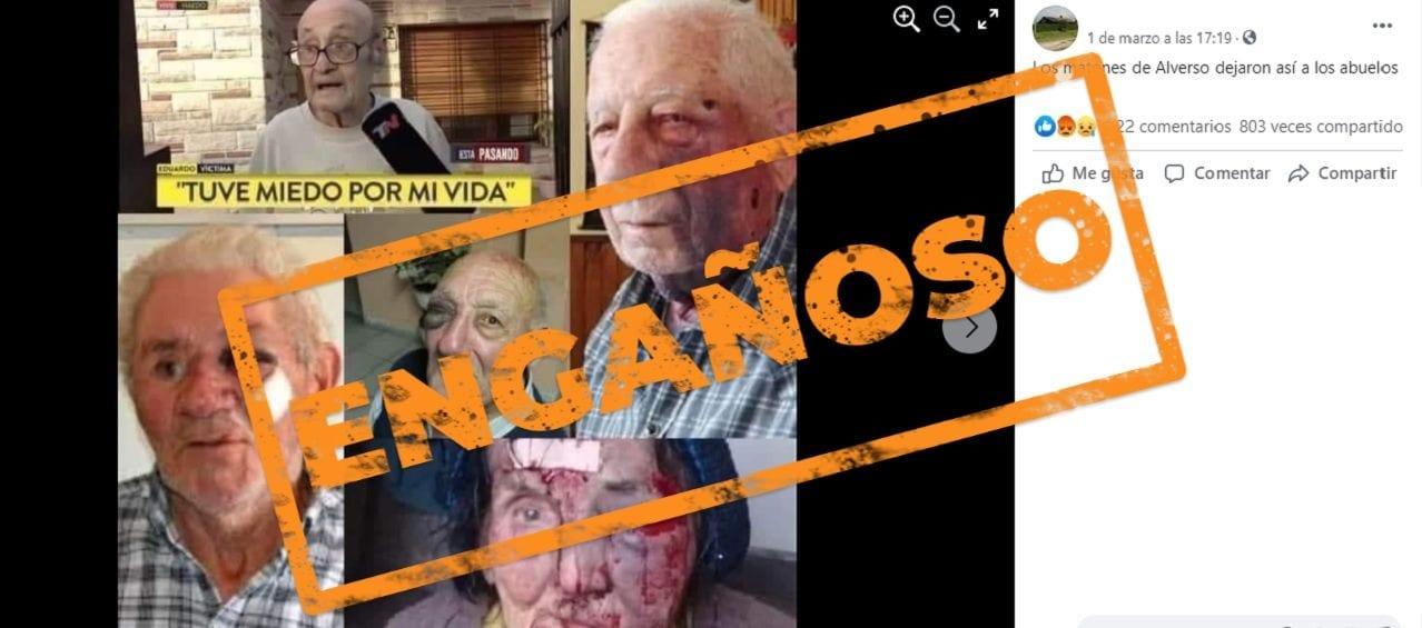 Son engañosas las imágenes que muestran a jubilados golpeados en una marcha contra el Gobierno