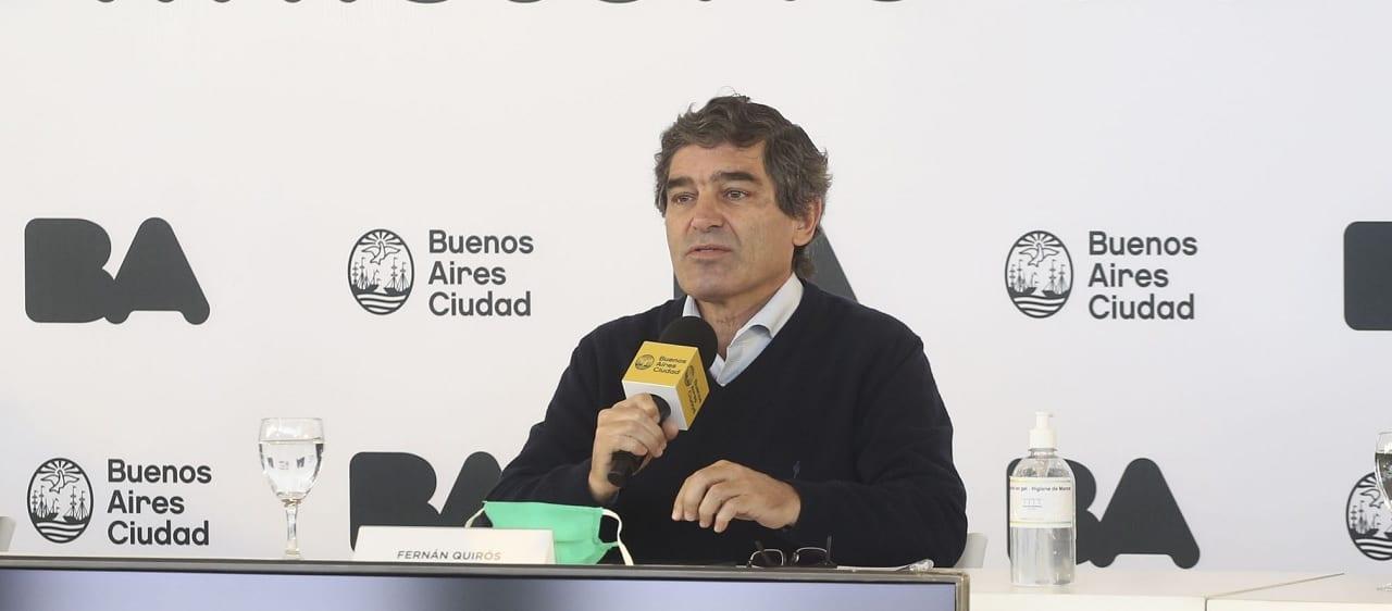 """Quirós: """"La Ciudad de Buenos Aires tiene una carga de trabajadores de la salud muy superior al promedio de la Argentina"""""""