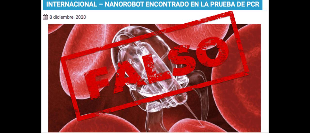 Es falso que se hayan descubierto nanorobots dentro de las pruebas PCR