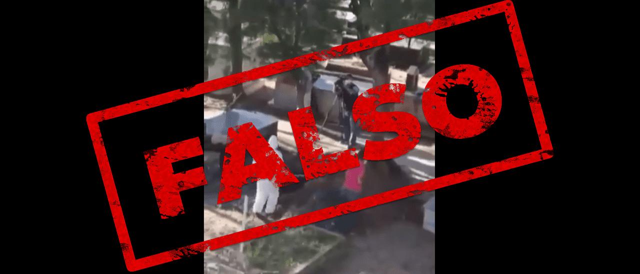 Es falso el video que indica que en Brasil se simulan entierros para generar temor por las muertes por coronavirus