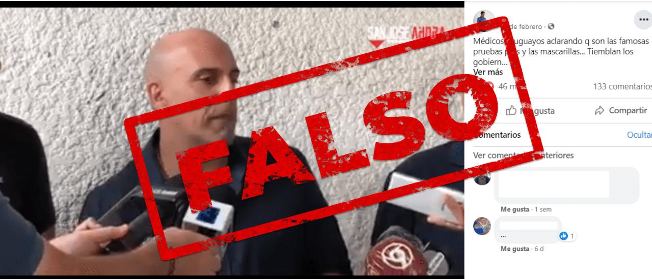 Son falsas las afirmaciones de un médico uruguayo sobre los barbijos y las vacunas (II)