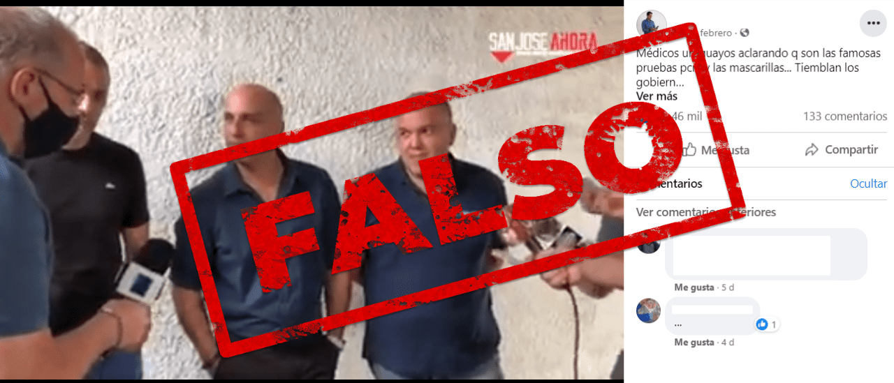 Son falsas las afirmaciones de un médico uruguayo sobre las pruebas PCR y los asintomáticos (I)