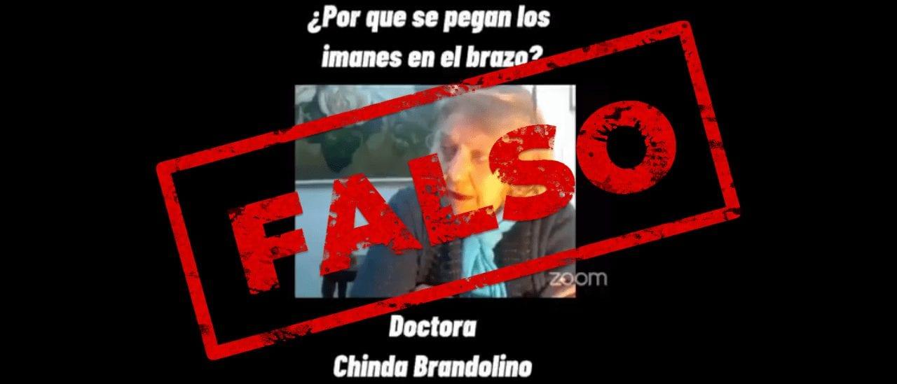 Son falsas las declaraciones de la médica Chinda Brandolino sobre las vacunas contra el coronavirus