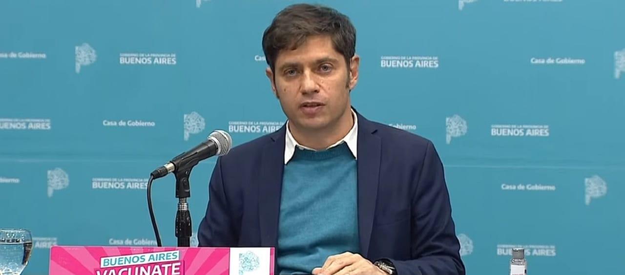 Kicillof anunció la vuelta de las clases presenciales en el Conurbano bonaerense