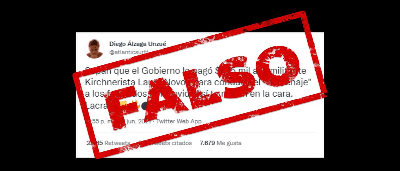 Laura Novoa cobró $ 60 mil pesos por su participación en el homenaje a las víctimas de COVID-19, no $ 475 mil como circuló en redes sociales