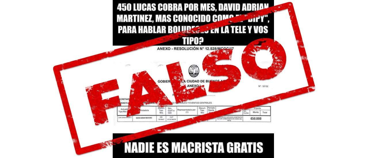"""Es falsa la resolución que vincula a """"El Dipy"""" con un contrato con el Gobierno porteño"""