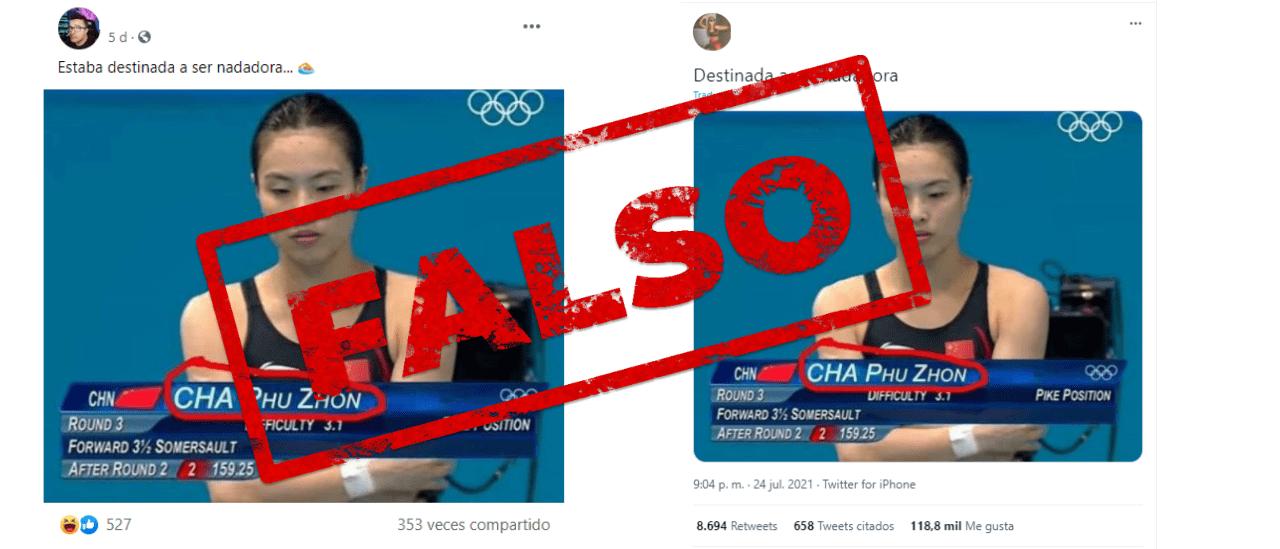 No, no existe una nadadora llamada Cha Phu Zhon en los Juegos Olímpicos de Tokio