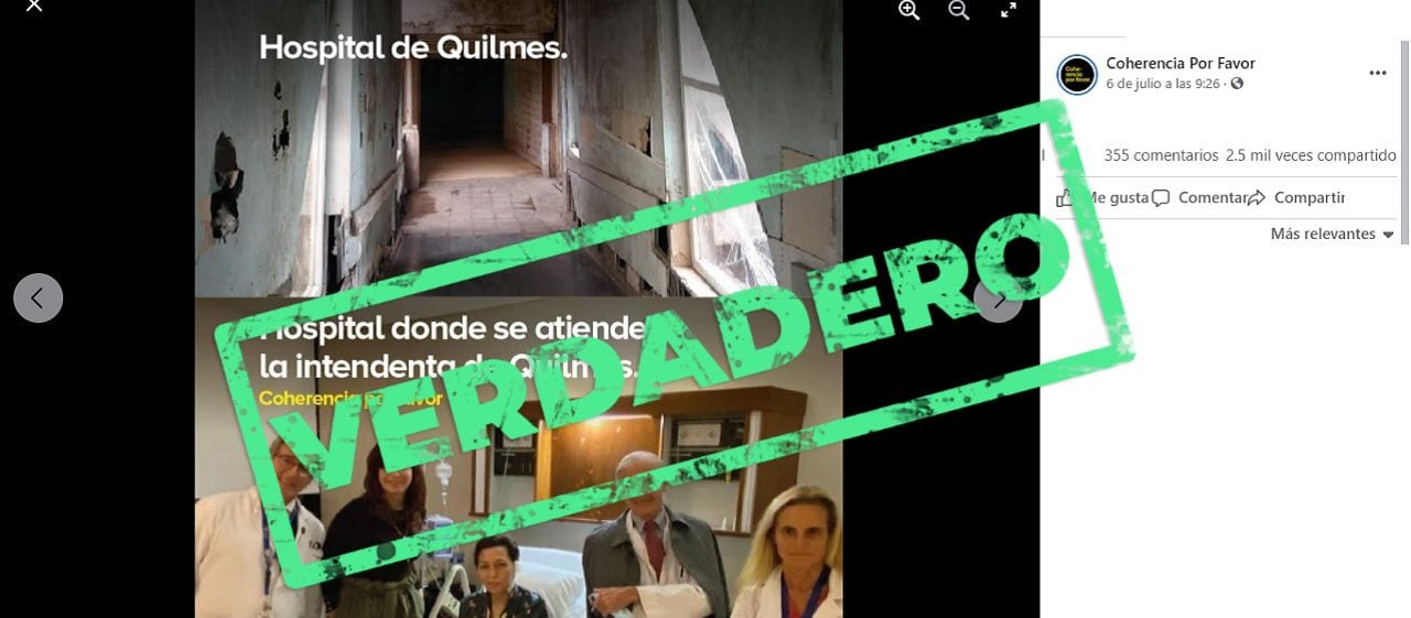 Son verdaderas las imágenes que comparan un hospital de Quilmes con la clínica privada donde se internó la intendenta Mayra Mendoza