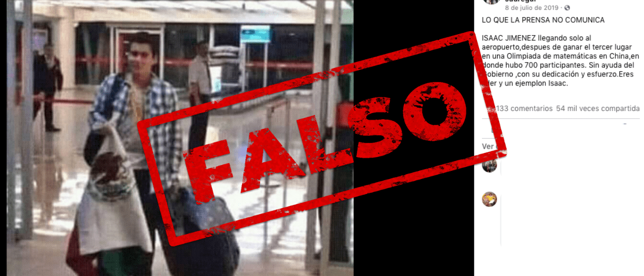 Es falso que un medallista mexicano no fue recibido en el aeropuerto tras ganar las Olimpiadas de Matemáticas