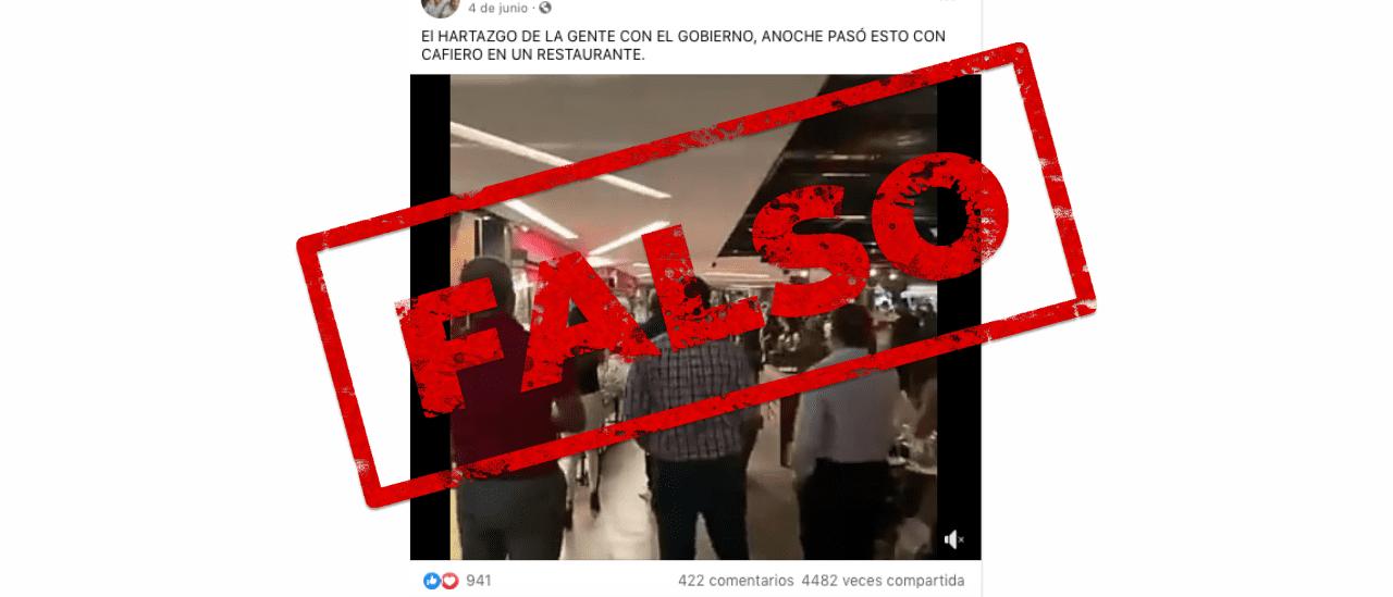 Es falso que escracharon a Santiago Cafiero; el hombre que aparece en el video es el jefe de Gabinete de Paraguay