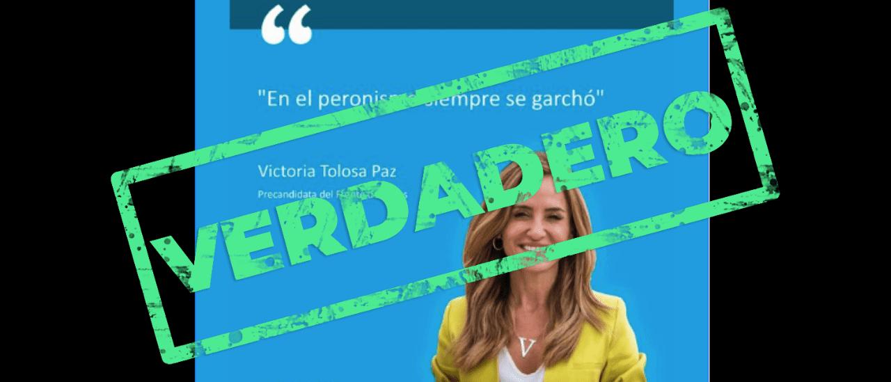 Es verdadera la frase que se le adjudica a Tolosa Paz sobre el peronismo