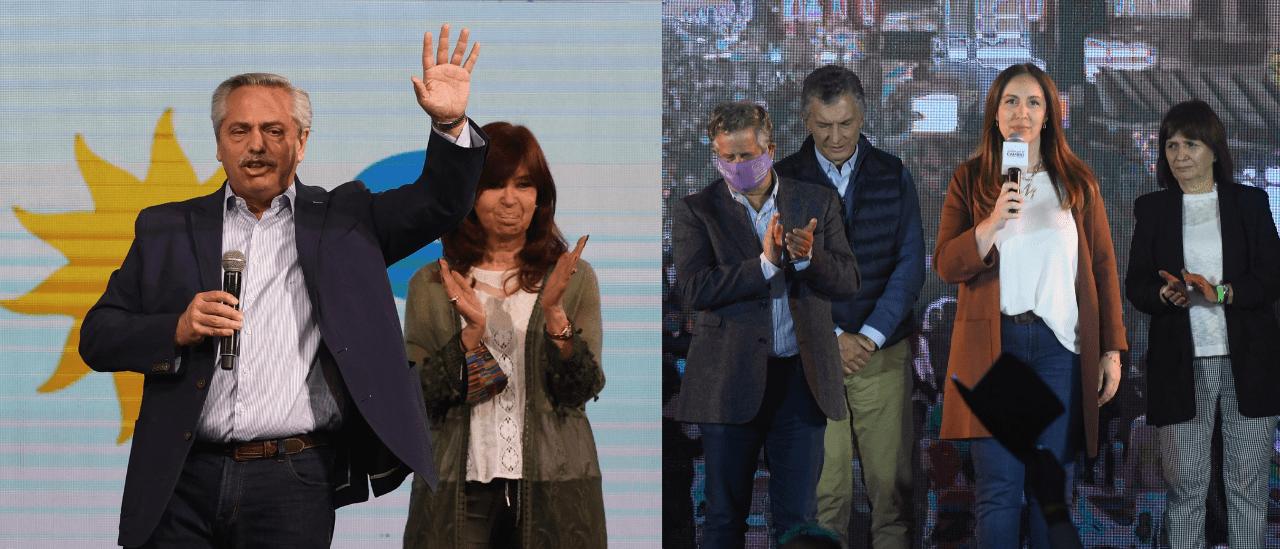 PASO 2021: el Frente de Todos perdió 4 millones de votos entre las PASO de 2019 y de 2021, y Juntos por el Cambio consiguió 800 mil más